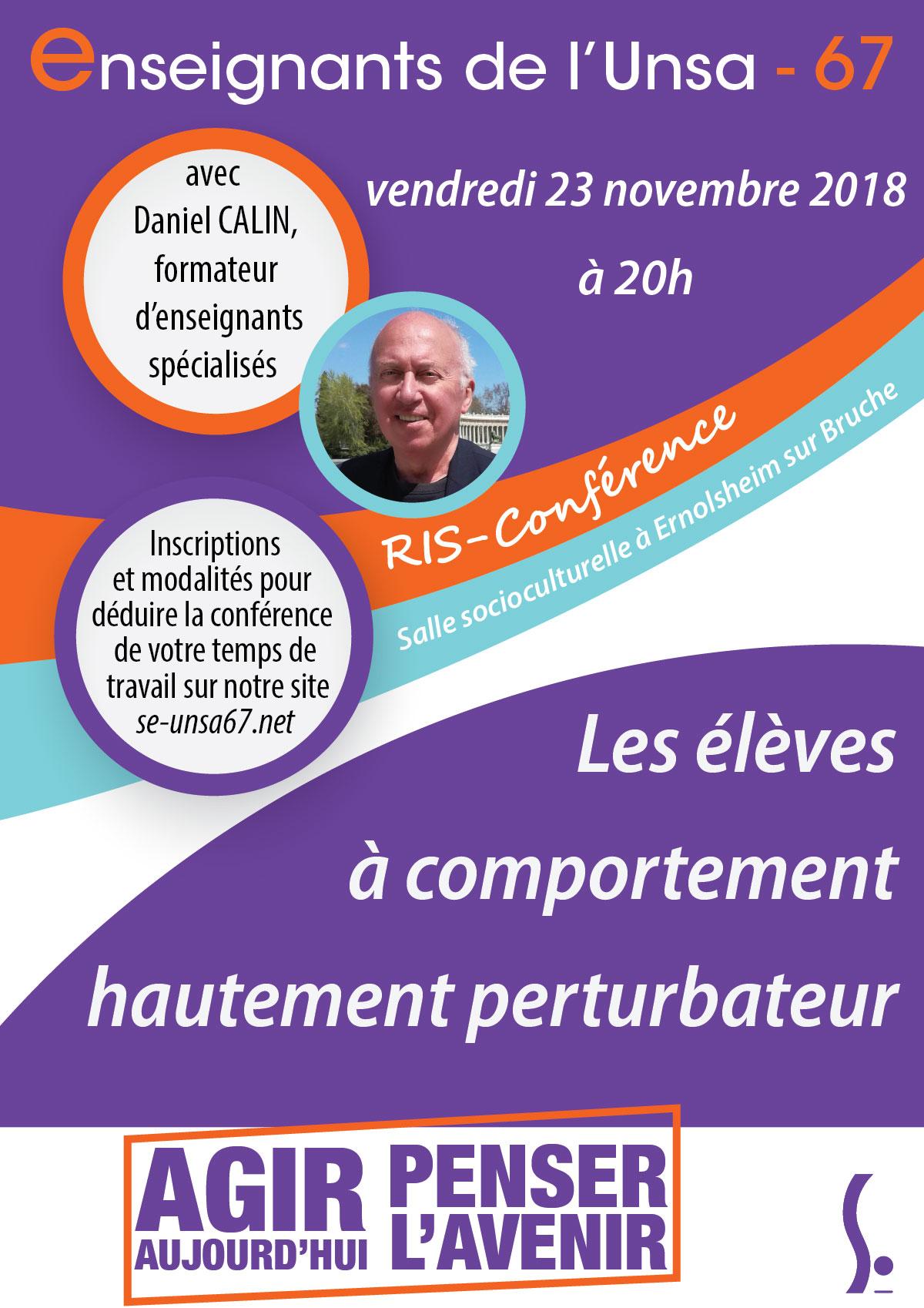 Conférence de Daniel CALIN